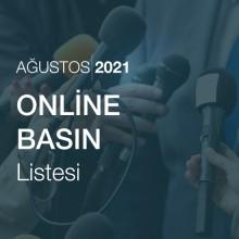 Online Basın Listesi [Ağustos 2021]