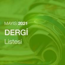 Dergi Listesi (Mayıs 2021)