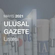 Ulusal Gazete Listesi (Mayıs 2021)