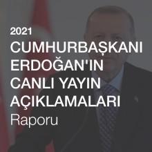 Cumhurbaşkanı Erdoğan'ın 2021'de Katıldığı Canlı Yayınlar Raporu [2021]