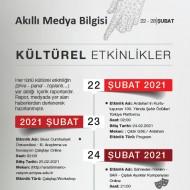 Kültürel Etkinlikler (22-28 Şubat 2021)