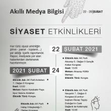 Siyasi Etkinlikler (22-28 Şubat 2021)