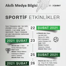 Sportif Etkinlikler (22-28 Şubat 2021)