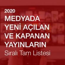 Medyada Yeni Açılan ve Kapanan Yayınların Sıralı Tam Listesi (2020)